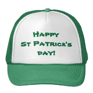 Happy St Patrick's Day Mesh Hats