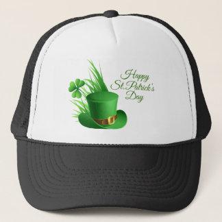Happy St Patrick's day, holiday Irish hat saint