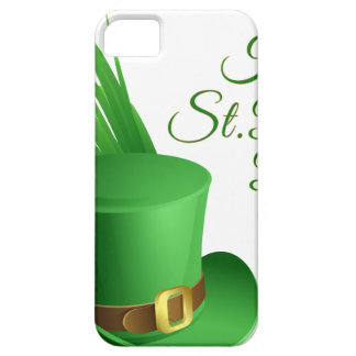 Happy St Patrick's day, holiday Irish hat saint iPhone 5 Case