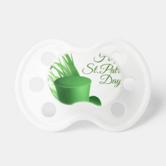 Happy St Patrick's day, holiday Irish hat saint Pacifier