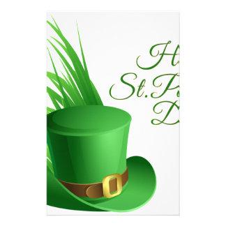 Happy St Patrick's day, holiday Irish hat saint Stationery
