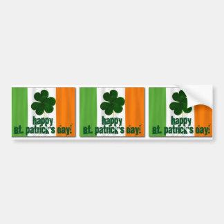 Happy St. Patrick's Day, Irish Flag Color Ireland Bumper Sticker