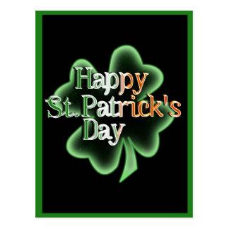 Happy St Patrick's Day (Irish Flag Color Text) Postcard