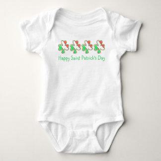 Happy St. Patrick's Day Irish Flag Shamrock Cookie Baby Bodysuit