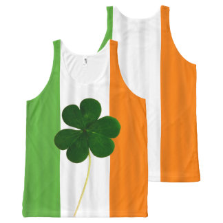 Happy St. Patrick's Day Irish Flag Shamrock Paddy All-Over-Print Tank Top