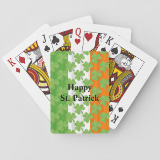 Happy St. Patrick's Day Irish Flag Shamrock Paddy Playing Cards