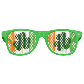 Happy St. Patrick's Day Irish Flag Shamrock Paddy Retro Sunglasses