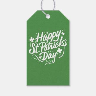 Happy St Patricks Day Irish Green Shamrock Custom Gift Tags
