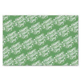 Happy St Patricks Day Irish Green Shamrock Custom Tissue Paper