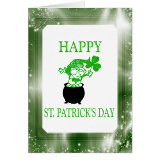Happy St. Patrick's Day Irish Leprechaun Note Card