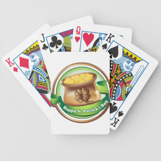 Happy St Patrick's day, Irish Saint Hat Holiday Bicycle Playing Cards