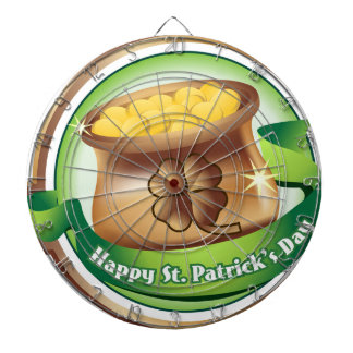 Happy St Patrick's day, Irish Saint Hat Holiday Dartboard
