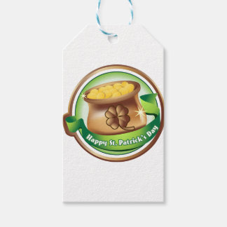 Happy St Patrick's day, Irish Saint Hat Holiday Gift Tags