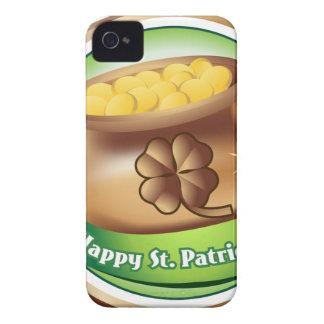 Happy St Patrick's day, Irish Saint Hat Holiday iPhone 4 Cover