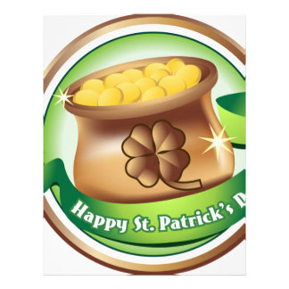 Happy St Patrick's day, Irish Saint Hat Holiday Letterhead