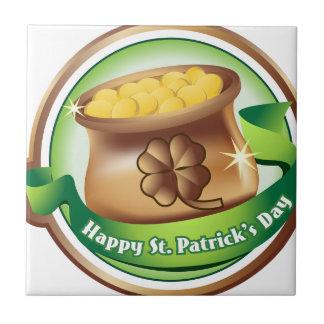 Happy St Patrick's day, Irish Saint Hat Holiday Tile