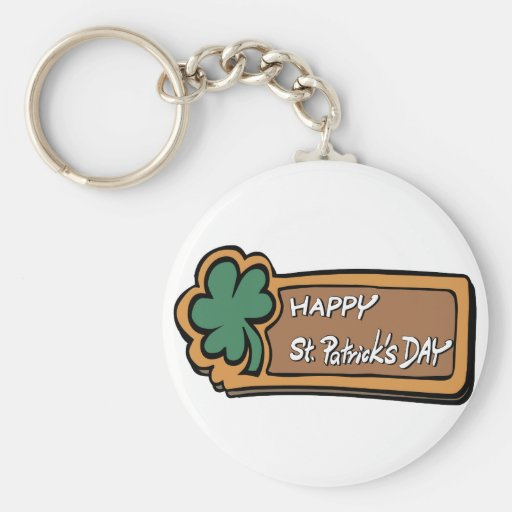 Happy St. Patricks Day Keychain