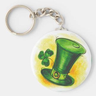 Happy St. Patrick's Day Basic Round Button Keychain