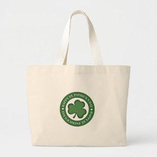 Happy St. Patricks Day Large Tote Bag