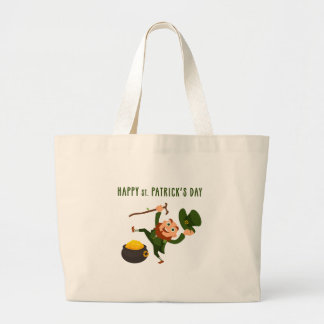 Happy St. Patrick's Day Large Tote Bag