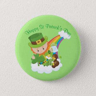 Happy St Patrick's Day Leprechaun 2 Inch Round Button