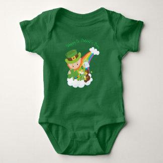 Happy St Patrick's Day Leprechaun Baby Bodysuit