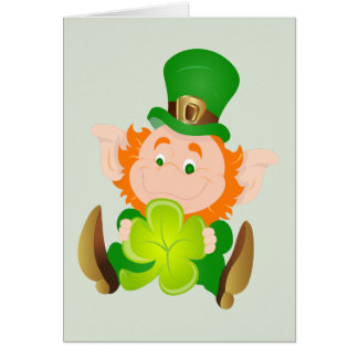 Happy St. Patrick's Day leprechaun Card