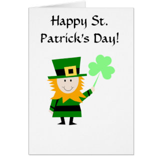 Happy St. Patrick's Day Leprechaun Greeting Card