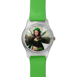 Happy St Patrick's Day Mona Lisa Watch