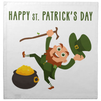 Happy St. Patrick's Day Napkin
