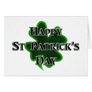 Happy St Patrick's Day Note Card