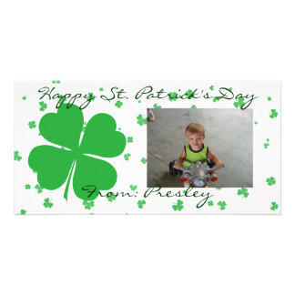 Happy St. Patrick's Day Personalized Photo Card