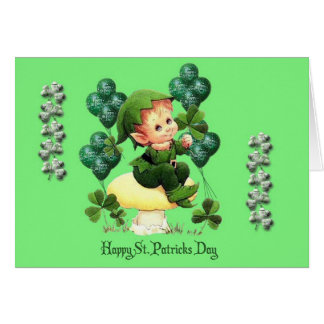 Happy St. Patrick's Day Pot of Gold and Rainbow Card