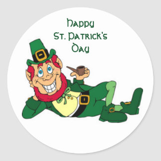 Happy St. Patrick's Day Round Sticker