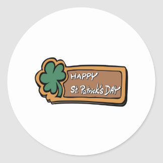Happy St. Patricks Day Round Sticker