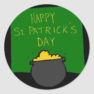 Happy St. Patrick's Day Round Sticker