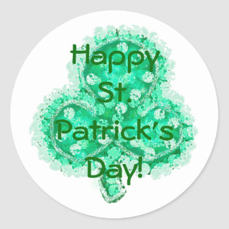 Happy St. Patrick's Day! Round Sticker