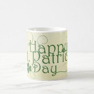 Happy St. Patrick's Day Rustic Coffee Mug