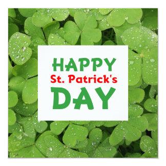 Happy St.Patrick's day shamrock card