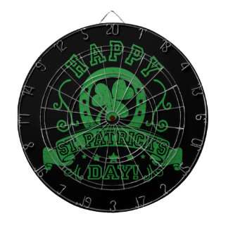 Happy St Patrick's Day Shamrock Dartboard