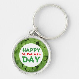 Happy St.Patrick's day shamrock keychain. Keychain