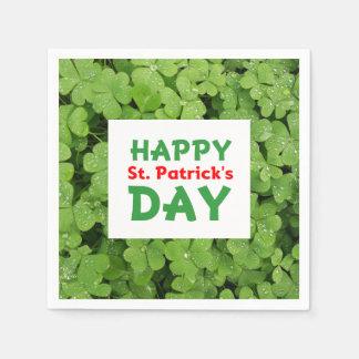 Happy st.Patrick's Day shamrock napkins
