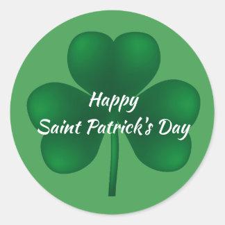 Happy St Patricks Day Shamrock Sticker