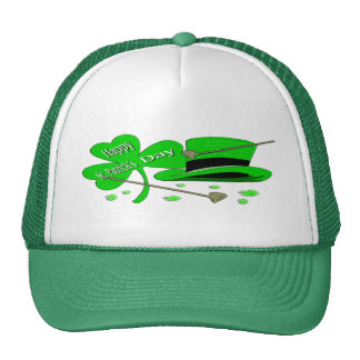 Happy St Patrick's Day Shamrock Trucker Hat