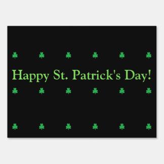 Happy St. Patrick's Day Shamrocks