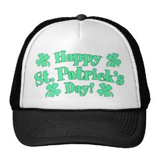 Happy St. Patrick's Day Shamrocks Trucker Hat
