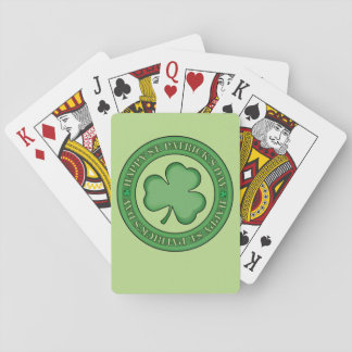 Happy St Patricks Day Shield Playing Cards