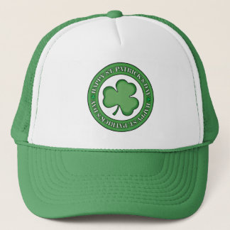 Happy St Patricks Day Shield Trucker Hat