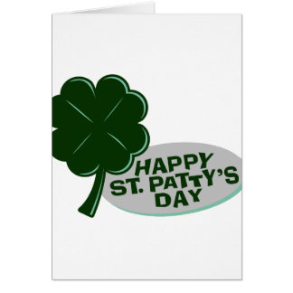 happy st patricks day single clover.png note card
