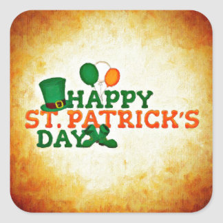 Happy ST Patrick's Day Square Sticker